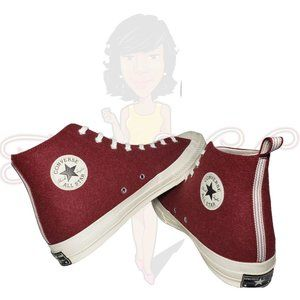 Converse All Star Red Fabric Lace Up High Top